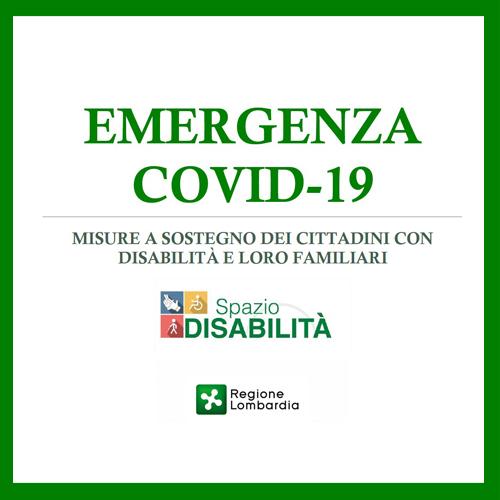 SpazioDisabilità di Regione Lombardia pubblica una Guida sulle misure a sostegno dei cittadini durante l'emergenza COVID-19
