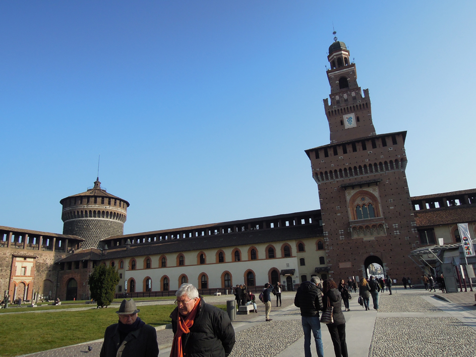 Il cortile interno del castello Sforzesco