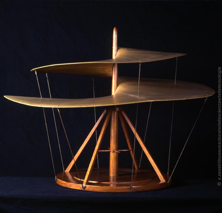 """Modello di """"vite aerea"""" progettato da Leonardo"""