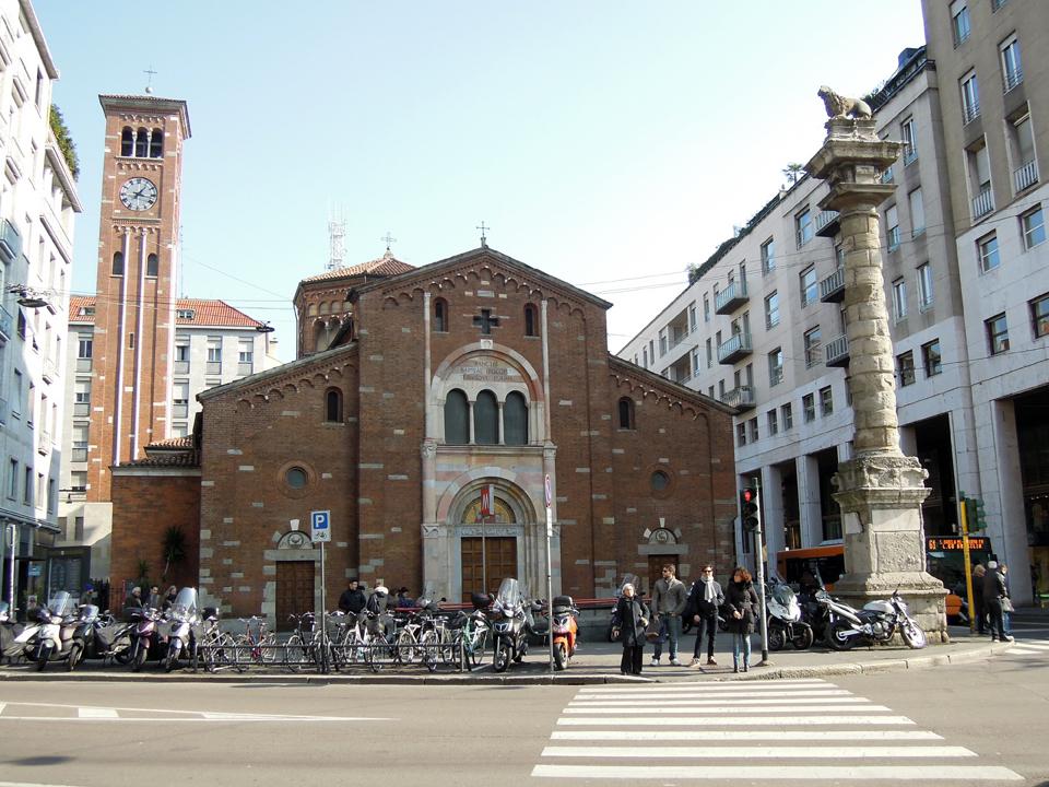 La chiesa di San Babila