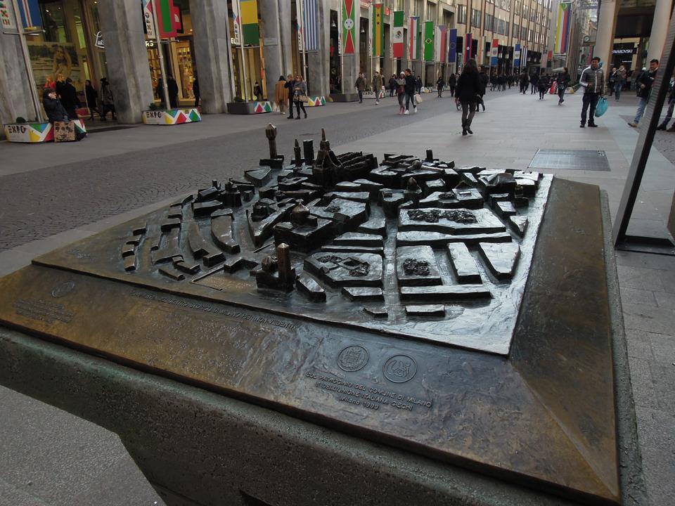 Modellino tattile del centro di Milano