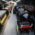 Locomotive a vapore, interno del Museo della scienza e della tecnologia
