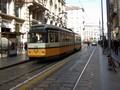 Un tram, via Torino