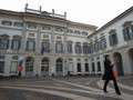 L'ingresso della Galleria d'arte contemporanea