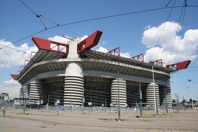 """Lo stadio """"Giuseppe Meazza"""" di Milano"""