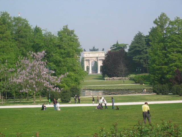 Parco Sempione, veduta