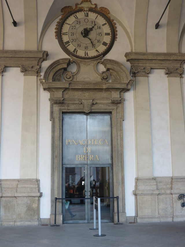 Pinacoteca di Brera, ingresso